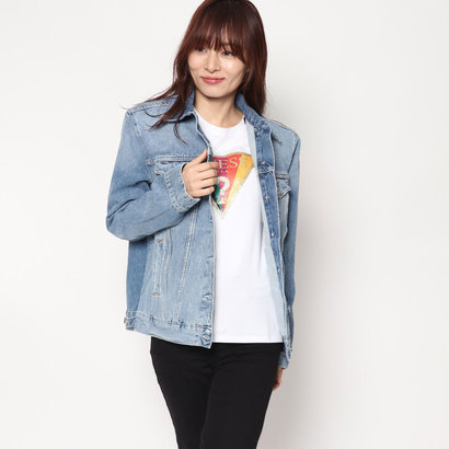 【アウトレット】ゲス GUESS IVORY NINETEES DENIM JACKET (BANYAN)
