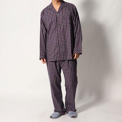 【アウトレット】ランバン コレクション LANVIN COLLECTION ツイルチェックパジャマ (レッド)
