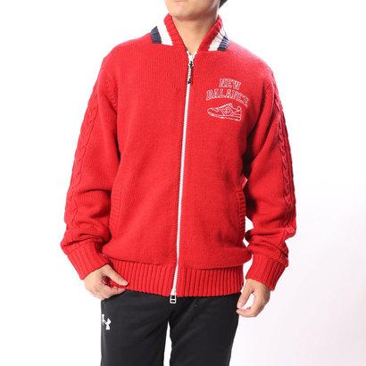 ニューバランス new balance メンズ ゴルフ 長袖セーター シューズモチーフ ニットブルゾン 0128272004
