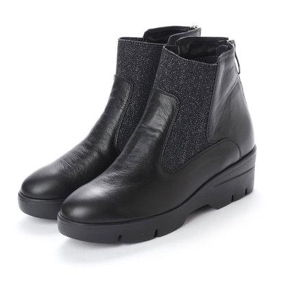 【アウトレット】ヌエール nouer PECHINCHAR ラメゴア厚底ショートブーツ (ブラック)