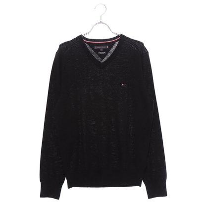 トミーヒルフィガー TOMMY HILFIGER Vネック ウール セーター (ブラック)