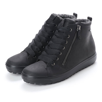 エコー ECCO Womens Soft 7 TRED GTX Hi (BLACK)