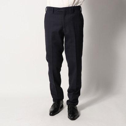 コムサイズム COMME CA ISM 《セットアップ》グレンチェック スーツパンツ (ネイビー)