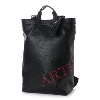 アルセラピィ artherapie ロゴマニア 2WAYバックパック (ブラック×レッド)