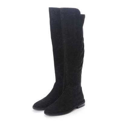 ヌエール nouer ELVOZANONbrスウェードタッチロングブーツ (ブラック)