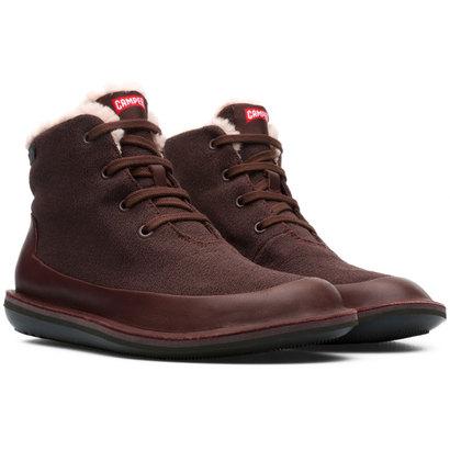 カンペール CAMPER BEETLE / ブーツ ハイカット プレーン フラット (チョコレートブラウン)