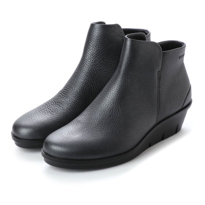 【アウトレット】エコー ECCO Skyler Wedge Bootie (BLACK/DARK SILVER)