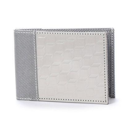 スチュワート スタンド STEWART/STAND ステンレス糸のコインケース付二つ折りウォレット/3D ボックス (シルバー/3D ボックス), カルメロ:dc391d94 --- myneeds.jp