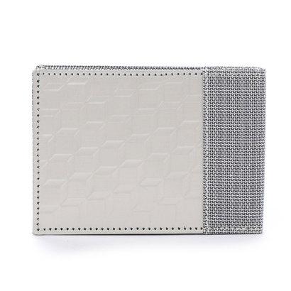 374bef240f79 スチュワート スタンド STEWART/STAND ステンレス糸のコインケース付二つ折りウォレット/3D ボックス (シルバー/3D  ボックス)-メンズ財布