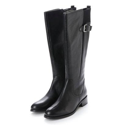 キスコ KISCO 【本革】ベルト飾りロングブーツ (ブラック)