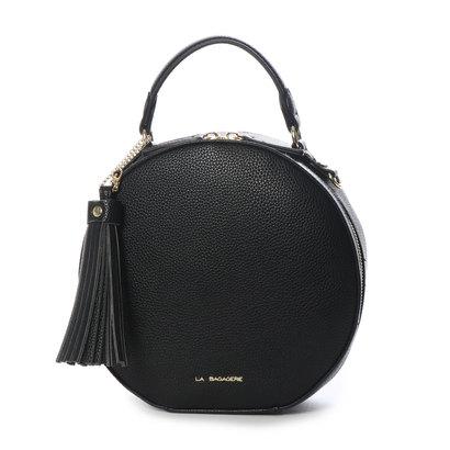 ラ バガジェリー LA BAGAGERIE サークルタッセル付きショルダーバッグ (BLACK)
