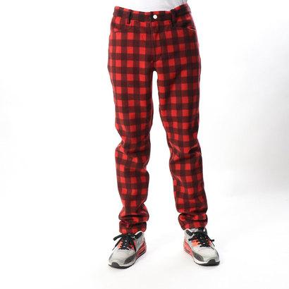 ニューバランス new balance メンズ ゴルフ スラックス バッファローチェック フリースロングパンツ 0128231014