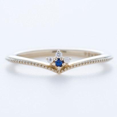 ソーイ sowi 【K10】ピンキーリング サファイヤ&ダイヤモンド (ブルー)