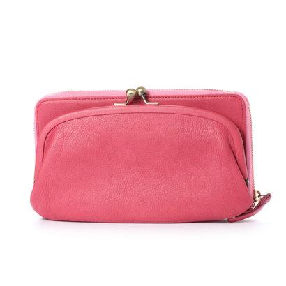 カナナラ KUNUNURRA イタリアンレザー革巻きがま口お財布BAG (ピンク)