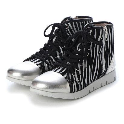 フィットジョイ FIT JOY 軽量 8 eyelet zip ブーツ (ZEBRA)