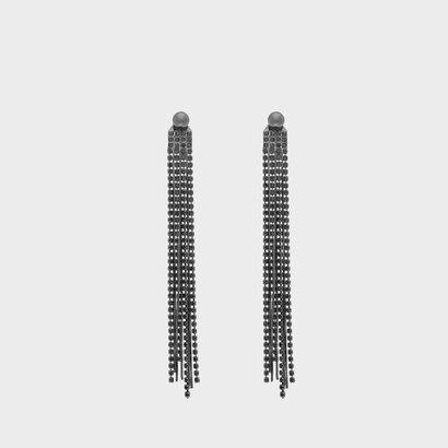 クリスタルドロップ イヤリング / Crystal Drop Earrings (Black)