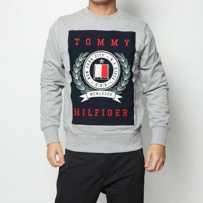 【アウトレット】トミーヒルフィガー TOMMY HILFIGER クレストスウェットシャツ (グレー)