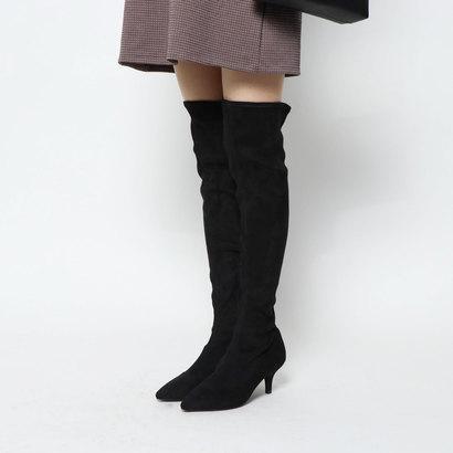 ヌエール nouer PECHINCHAR ピンヒールストレッチロングブーツ (ブラック)