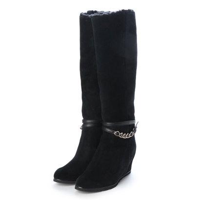 【アウトレット】アンタイトル シューズ UNTITLED shoes ロングブーツ (ブラックスエード)