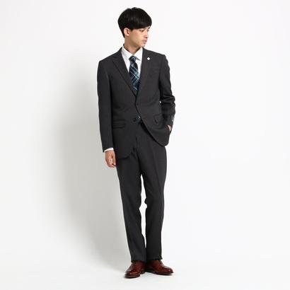 ザ ショップ ティーケーメンズ THE SHOP TK(Men) 【洗濯OK】ベーシックチョークストライプスーツ (チャコールグレー)