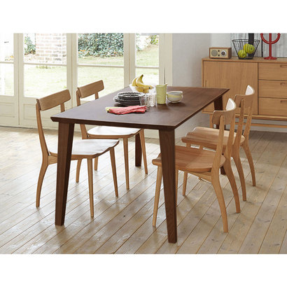 IDC OTSUKA/大塚家具 ダイニングテーブル フィル3 角天板/木製脚 W1800/ウォールナット材WN2色(ウォールナット)【返品不可商品】