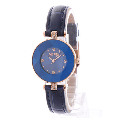 フォリフォリ Folli Follie CHIC & SLEEK カットガラスウォッチ/腕時計 (ブルー)