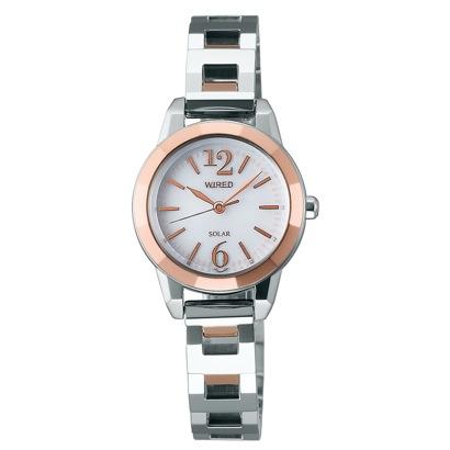 SEIKO ワイアード WIRED f(エフ) ソーラー 腕時計 国産 レディース(シルバー)