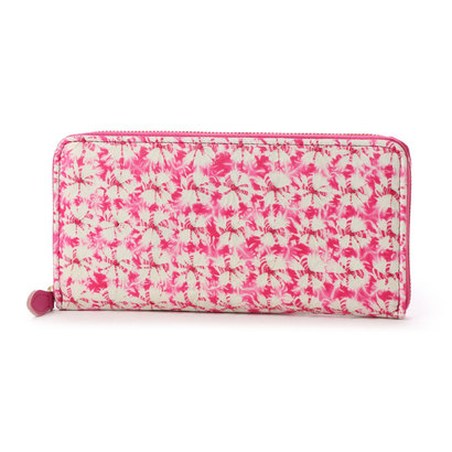 【アウトレット】アンチフォルムデザイン Anti-Forme Design 【Afd】SIBORI ZOME ラウンド型財布 (ピンク)