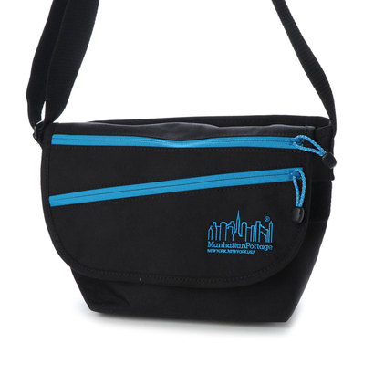 マンハッタンポーテージ Manhattan Portage Reflective Cord Casual Messenger Bag JR (Black/Blue)