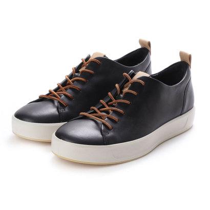【アウトレット】エコー ECCO Mens SOFT 8 LX Sneaker (BLACK/POWDER)
