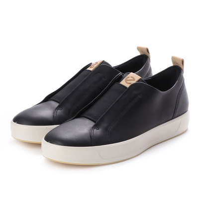 【アウトレット】エコー ECCO Mens SOFT 8 LX Slip-on (BLACK/POWDER)
