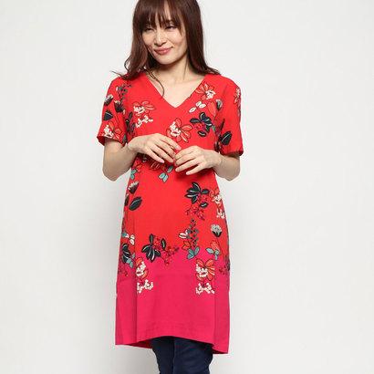 デシグアル Desigual ドレスショート袖 (ピンク/レッド)