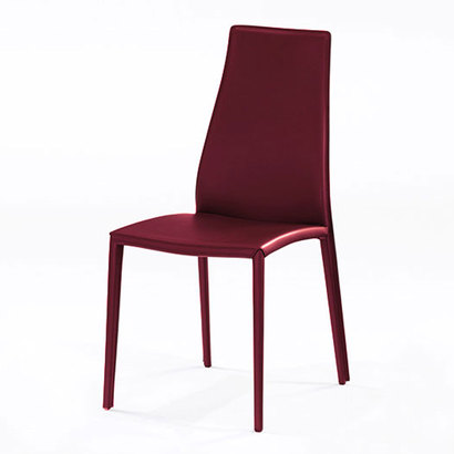 IDC OTSUKA/大塚家具 椅子 CS/1484(アイーダ プラス) 革張り バーガンディ (バーガンディ)【返品不可商品】