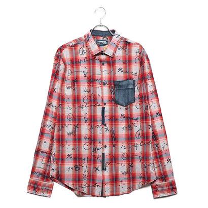 デシグアル Desigual シャツ長袖 (ピンク/レッド)