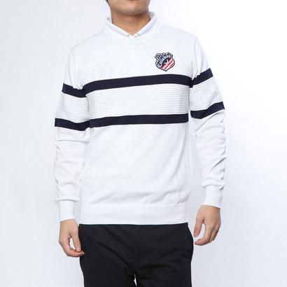 キャロウェイ Callaway メンズ ゴルフ 長袖セーター パネルボーダークルーネックニット 2419160501