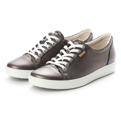 エコー ECCO Womens Soft 7 Sneaker (BLACK STONE METALLIC)