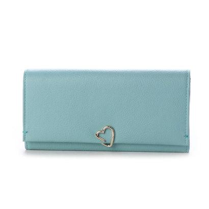 ランバン オン ブルー LANVIN en Bleu ロシェ フラップ長財布 (ブルーグリーン)