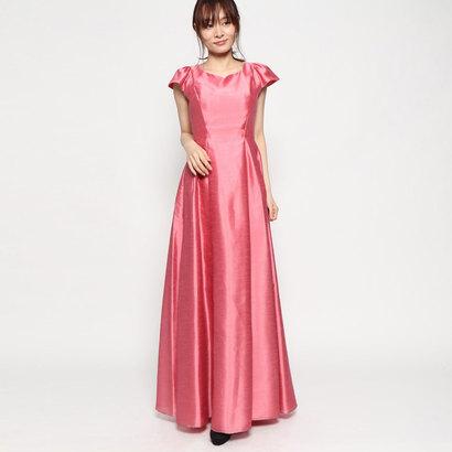 【アウトレット】ジュネビビアン Genet Vivien フレンチスリーブロングドレス (ピンク)