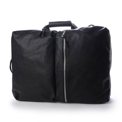 オティアス Otias 軽量!ガーメントフェイクレザー3WAYリュック/ビジネスバッグ/ショルダーバッグ (ブラック)