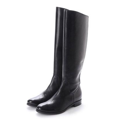 【アウトレット】ルカ グロッシ LUCA GROSSI 2.5cmヒールカーフスムースロングブーツ (ブラック)