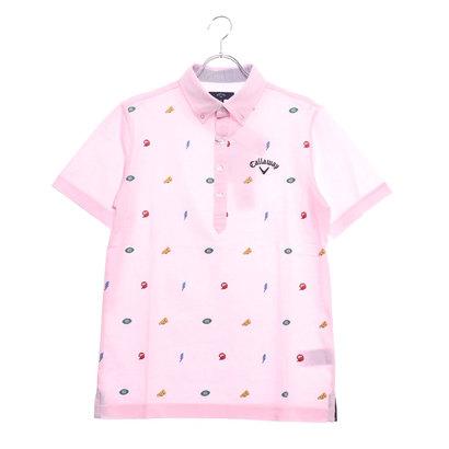 キャロウェイ Callaway メンズ ゴルフ 半袖シャツ モチーフプリントB.Dカラーシャツ 2419157510