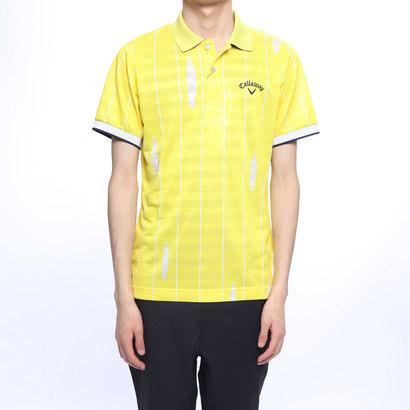 【アウトレット】キャロウェイ Callaway メンズ ゴルフ 半袖シャツ ストライププリントボーダーポロシャツ 2419151524