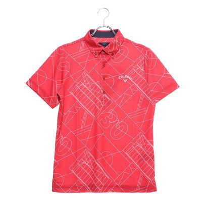 キャロウェイ Callaway メンズ ゴルフ 半袖シャツ コートガラプリントB.Dカラーシャツ 2419157513