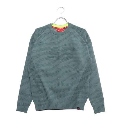 ニューバランス new balance メンズ ゴルフ 長袖セーター ゼブラプリントニットプルオーバー 0129170001