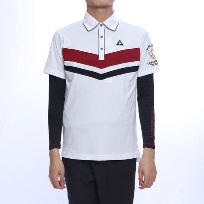 ルコックゴルフ le coq GOLF メンズ ゴルフ セットシャツ ハンソデシヤツ(ニツト) QGMNJA02W