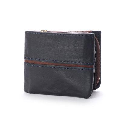 バギーポート BAGGY PORT 【MORITA & Co.】 フルクロームツートン 二つ折財布 (ネイビー)
