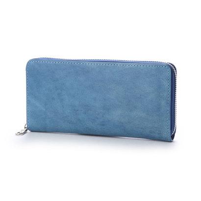 バギーポート コーアイ BAGGY PORT KOI 【MORITA & Co.】 藍染めレザー 長財布 (ブルー)
