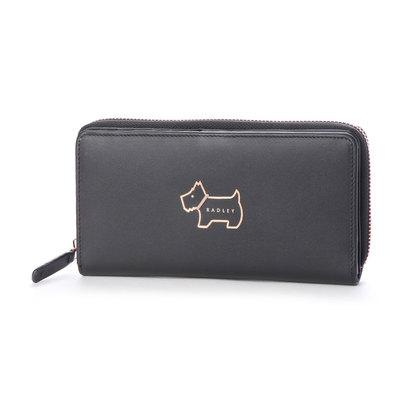 ラドリー ロンドン RADLEY LONDON HERITAGE DOG OUTLINE 長財布 ブラック (BLACK)