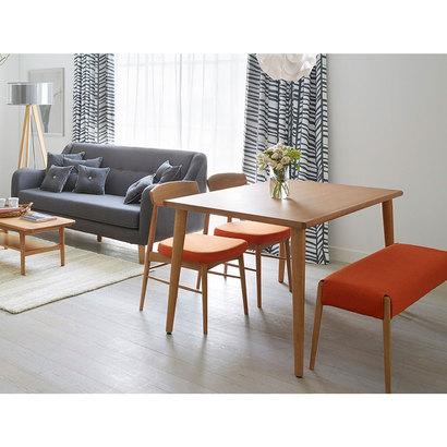 IDC OTSUKA/大塚家具 椅子 ユノA カバー布#2 WO色 オレンジ (オレンジ)【返品不可商品】