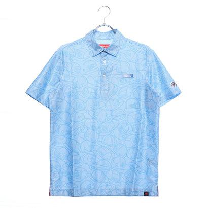 ニューバランス new balance メンズ ゴルフ 半袖シャツ ピンボーダージャカード×ヘッドウェアプリントシャツ 0129168009